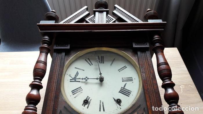 Relojes de pared: RELOJ DE PARED ANTIGUO 1910 AMERICANO MARCA ANGLO JEROME & CO FUNCIONANDO VER FOTOS - Foto 9 - 83912736