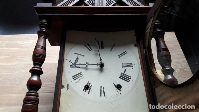 Relojes de pared: RELOJ DE PARED ANTIGUO 1910 AMERICANO MARCA ANGLO JEROME & CO FUNCIONANDO VER FOTOS - Foto 10 - 83912736