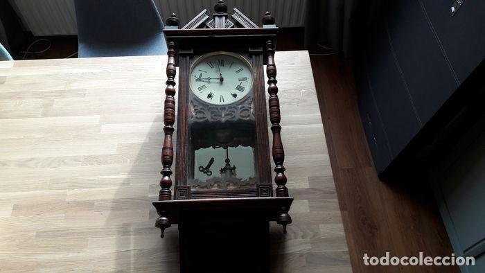 Relojes de pared: RELOJ DE PARED ANTIGUO 1910 AMERICANO MARCA ANGLO JEROME & CO FUNCIONANDO VER FOTOS - Foto 13 - 83912736