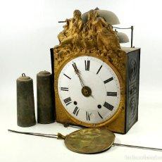 Relojes de pared: RELOJ MOREZ DE 3 CAMPANAS, CON 2 PESAS, S.XIX. VER FOTOS ANEXAS.. Lote 84100288