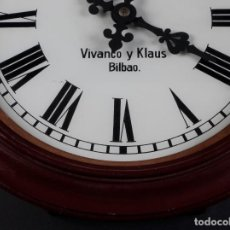 Relojes de pared: RELOJ DE PARED VIVANCO&KLAUS, BILBAO. Lote 84239328