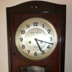 Relojes de pared: ANTIGUO RELOJ A CUERDA R.VALENCIA. Lote 85150894