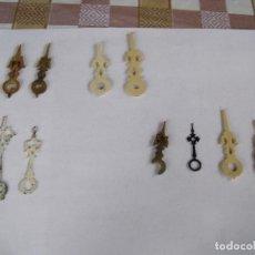 Relojes de pared: 10 AGUJAS PARA RELOJ DE CUCO - LOTE 34. Lote 85159616