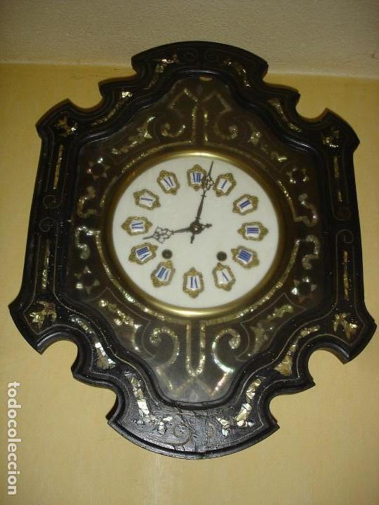 ESPLENDIDO RELOJ OJO DE BUEY SIGLO XIX (Relojes - Pared Carga Manual)