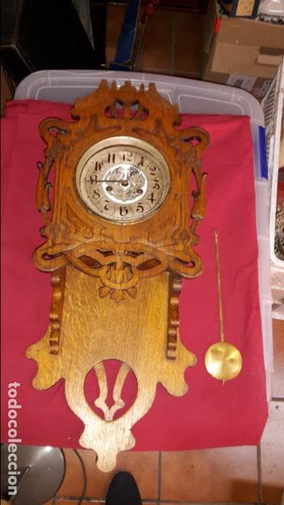 RELOJ S XIX ART NOUVEAU, MODERNISTA. (Relojes - Pared Carga Manual)