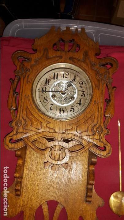 Relojes de pared: Reloj s XIX art nouveau, modernista. - Foto 2 - 86413748