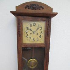 Relojes de pared: RELOJ DE PARED ANTIGUO H.A.C. FLECHAS CRUZADAS, 1890.FUNCIONANDO. Lote 87186528