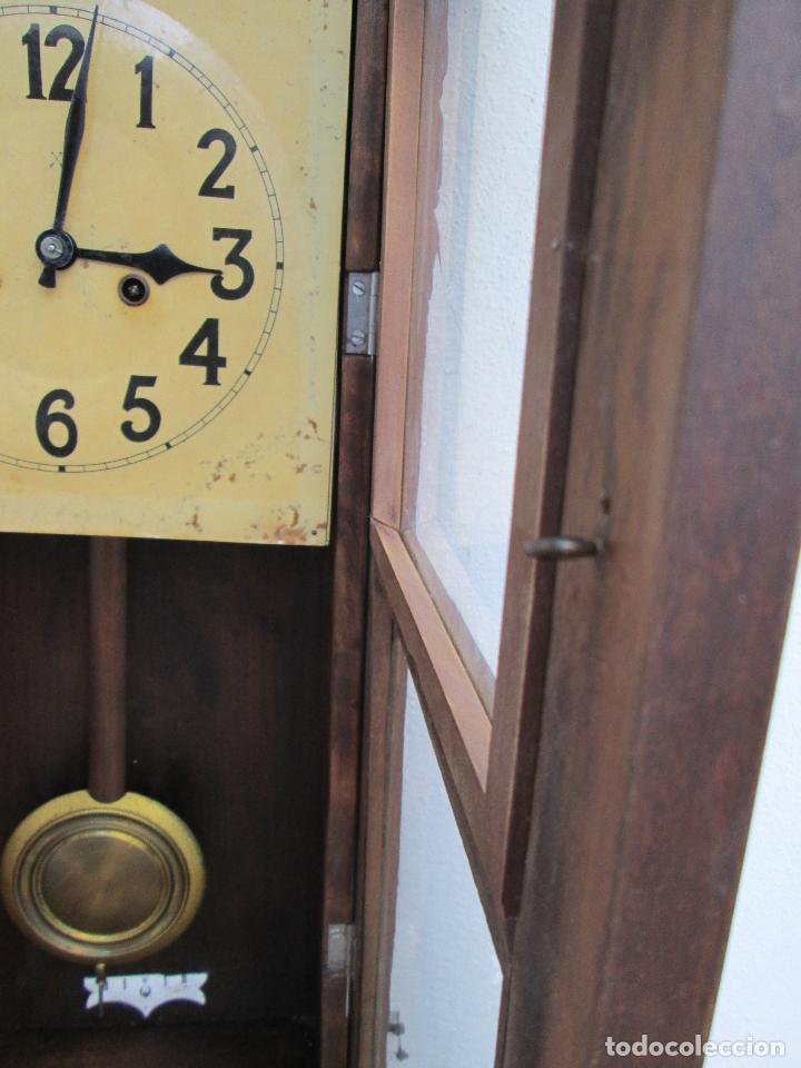 Relojes de pared: RELOJ DE PARED ANTIGUO H.A.C. FLECHAS CRUZADAS, 1890.FUNCIONANDO - Foto 4 - 87186528