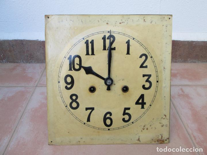 Relojes de pared: RELOJ DE PARED ANTIGUO H.A.C. FLECHAS CRUZADAS, 1890.FUNCIONANDO - Foto 5 - 87186528