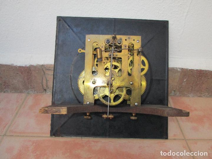 Relojes de pared: RELOJ DE PARED ANTIGUO H.A.C. FLECHAS CRUZADAS, 1890.FUNCIONANDO - Foto 6 - 87186528