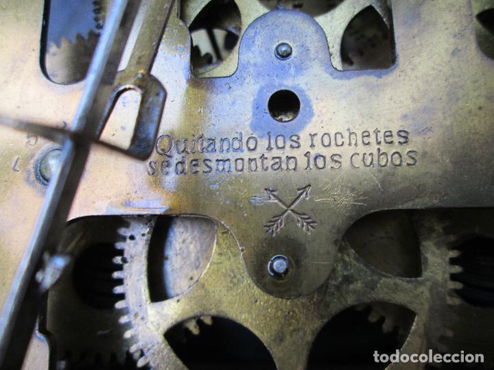 Relojes de pared: RELOJ DE PARED ANTIGUO H.A.C. FLECHAS CRUZADAS, 1890.FUNCIONANDO - Foto 7 - 87186528