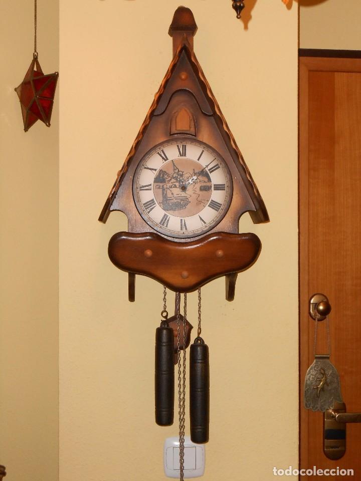 RELOJ CUCU HUBERT HERR SELVA NEGRA(ALEMÁN)MUY GRANDE.7 DÍAS DE CUERDA . MECÁNICO Y FUNCIONAL. (Relojes - Pared Carga Manual)