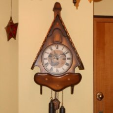 Relojes de pared: RELOJ CUCU HUBERT HERR SELVA NEGRA(ALEMÁN)MUY GRANDE.7 DÍAS DE CUERDA . MECÁNICO Y FUNCIONAL.. Lote 87965860