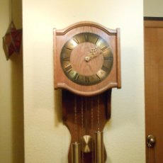 Relojes de pared: RELOJ DE PARED MARCA AMS CUERDA 7-8 DÍAS.. Lote 88173836
