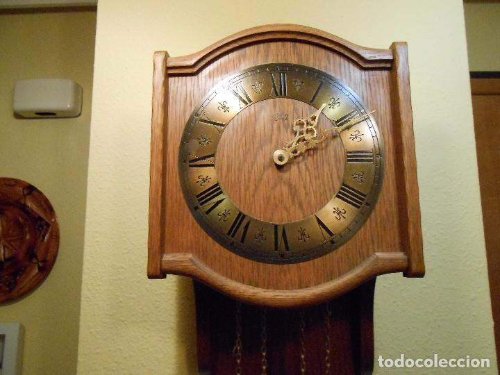 Relojes de pared: RELOJ DE PARED MARCA AMS CUERDA 7-8 DÍAS. - Foto 5 - 88173836