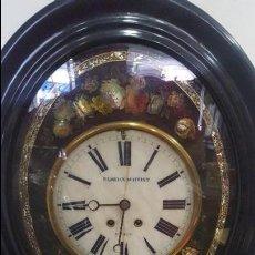 Relojes de pared: RELOJ OJO DE BUEY ALABASTRO Y MADREPERLA DEL RELOJERO VIENES FLORIAN SCHMIDT. Lote 89038196