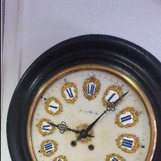 Relojes de pared: RELOJ OJO DE BUEY ALABASTRO Y NÚMEROS PORCELANA RELOJERO JOSE OCON SIGLO XIX. Lote 89038368