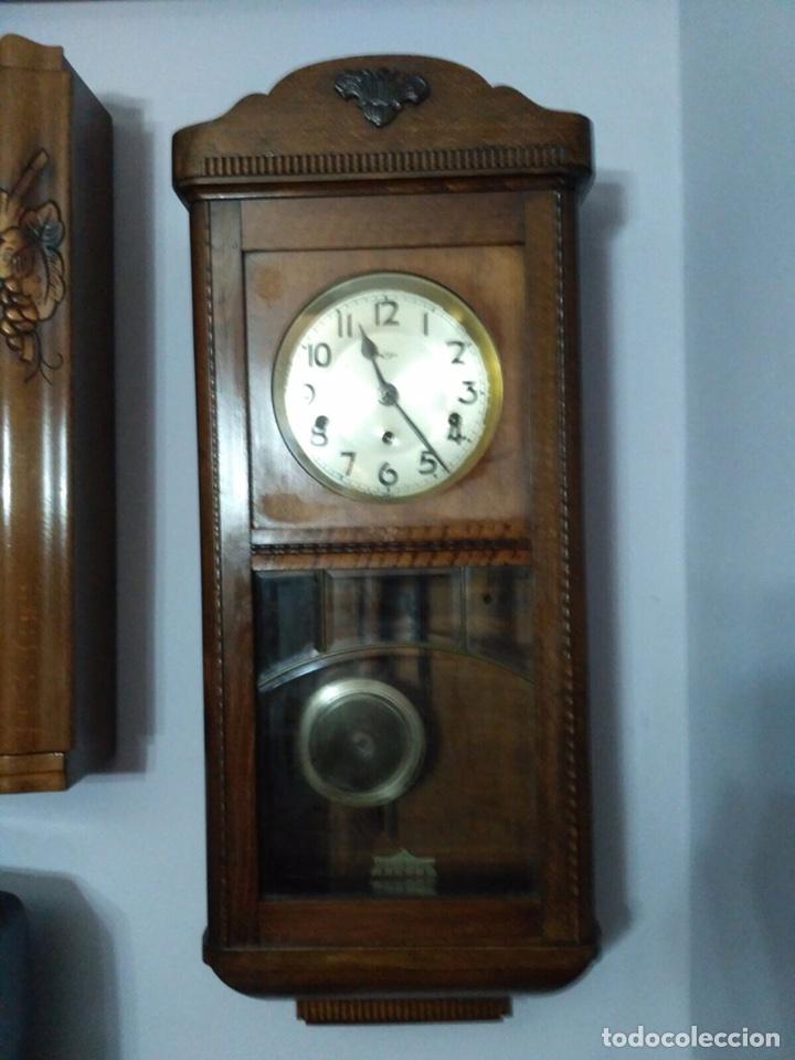 Reloj antiguo alem n kienzle comprar relojes antiguos de pared carga manual en todocoleccion - Relojes pared antiguos ...