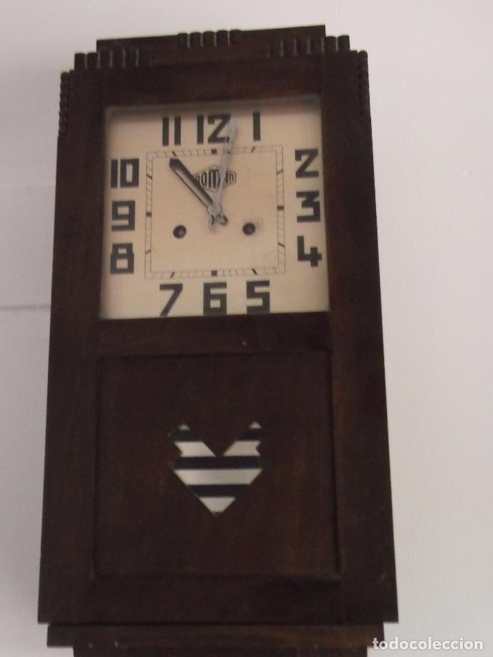 Relojes de pared: MUY ANTIGUO RELOJ DE PARET DE CARGA MANUAL ROMAN ENTRA Y MIRALO - Foto 4 - 89175704