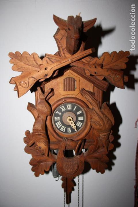 Relojes de pared: Reloj de cuco suizo. Está para restaurar, tiene alguna falta. desconozco si funciona. Madera - Foto 5 - 90415654