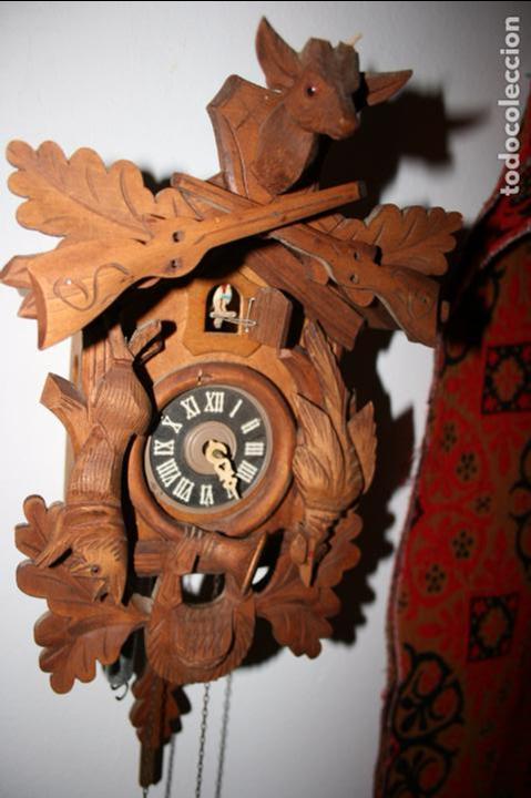 Relojes de pared: Reloj de cuco suizo. Está para restaurar, tiene alguna falta. desconozco si funciona. Madera - Foto 9 - 90415654