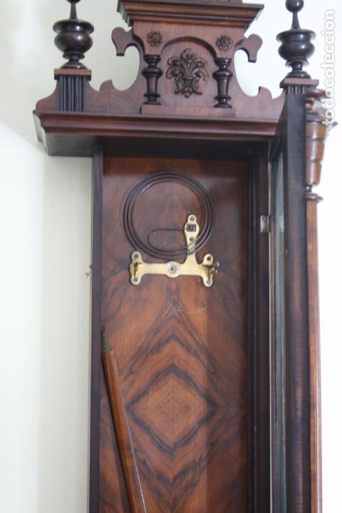 Relojes de pared: ANTIGUO RELOJ VIENE, DE GUSTAV BECKER, CON CUERDA, FUNCIONANDO - Foto 10 - 78166165
