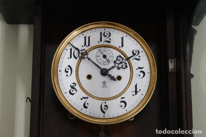 Relojes de pared: ANTIGUO RELOJ VIENE, DE GUSTAV BECKER, CON CUERDA, FUNCIONANDO - Foto 6 - 78166165