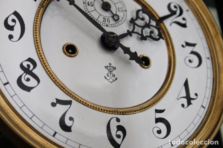 Relojes de pared: ANTIGUO RELOJ VIENE, DE GUSTAV BECKER, CON CUERDA, FUNCIONANDO - Foto 7 - 78166165