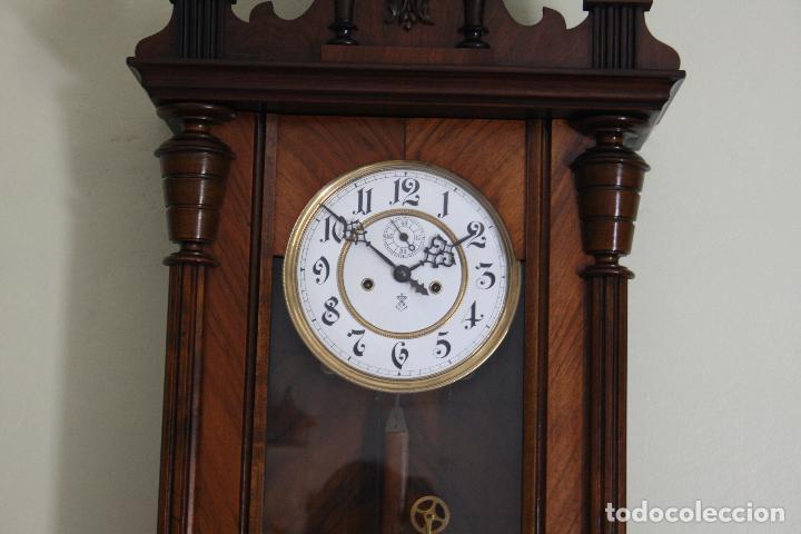 Relojes de pared: ANTIGUO RELOJ VIENE, DE GUSTAV BECKER, CON CUERDA, FUNCIONANDO - Foto 8 - 78166165