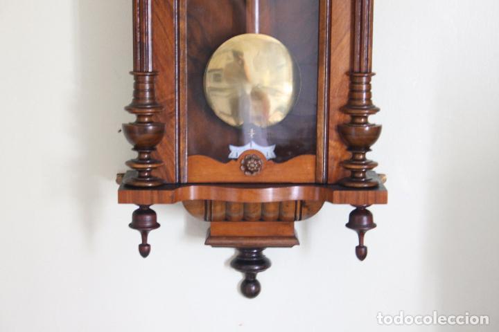 Relojes de pared: ANTIGUO RELOJ VIENE, DE GUSTAV BECKER, CON CUERDA, FUNCIONANDO - Foto 9 - 78166165