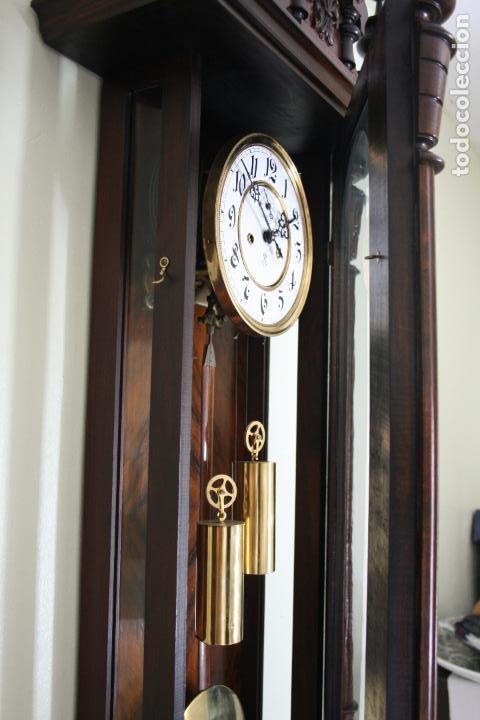 Relojes de pared: ANTIGUO RELOJ VIENE, DE GUSTAV BECKER, CON CUERDA, FUNCIONANDO - Foto 14 - 78166165