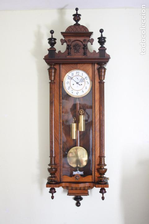 ANTIGUO RELOJ VIENE, DE GUSTAV BECKER, CON CUERDA, FUNCIONANDO (Relojes - Pared Carga Manual)