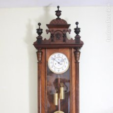 Relojes de pared: ANTIGUO RELOJ VIENE, DE GUSTAV BECKER, CON CUERDA, FUNCIONANDO. Lote 78166165