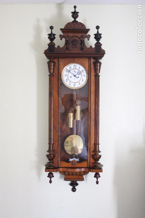 Relojes de pared: ANTIGUO RELOJ VIENE, DE GUSTAV BECKER, CON CUERDA, FUNCIONANDO - Foto 15 - 78166165