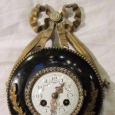 Relojes de pared: RELOJ ESTILO LUIS XVI - SELLADO VINCENTI CIE - 1.855 MEDAILLE D'ARGENT PARIS - BRONCE Y METAL ESMALT. Lote 91173120