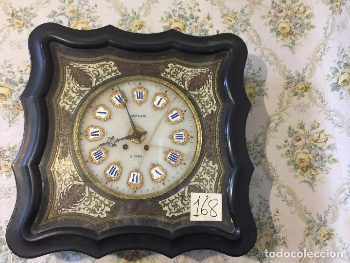 Relojes de pared: RELOJ DE OJO DE BUEY CUADRO FRANCÉS SIGLO XIX-XX, 6000-168 - Foto 2 - 43451006