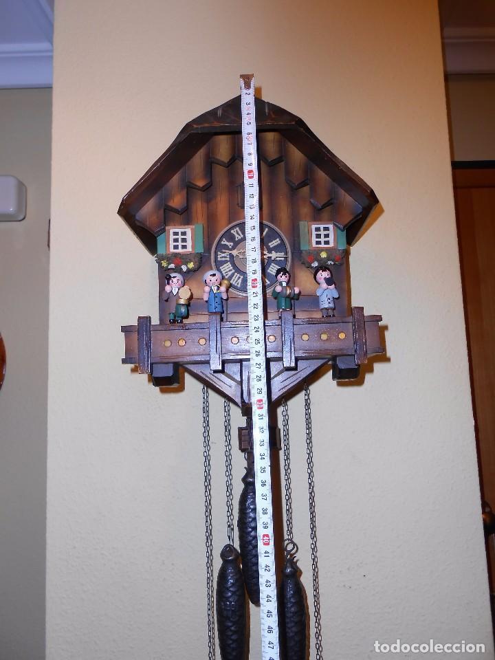 Relojes de pared: RELOJ CUCU MUSICAL CON MÚSICOS AUTÓMATAS,MARCA KUNEC.MECÁNICO(MADE IN WEST GERMANY). - Foto 2 - 93086415