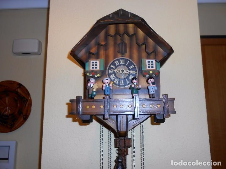 Relojes de pared: RELOJ CUCU MUSICAL CON MÚSICOS AUTÓMATAS,MARCA KUNEC.MECÁNICO(MADE IN WEST GERMANY). - Foto 7 - 93086415