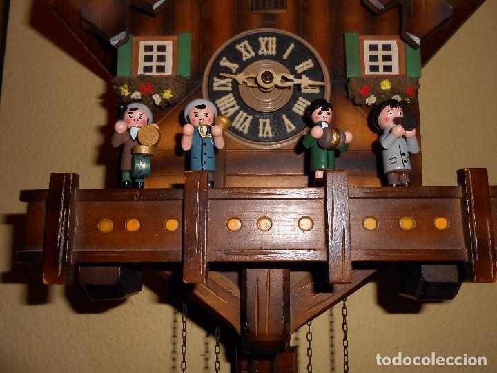 Relojes de pared: RELOJ CUCU MUSICAL CON MÚSICOS AUTÓMATAS,MARCA KUNEC.MECÁNICO(MADE IN WEST GERMANY). - Foto 8 - 93086415