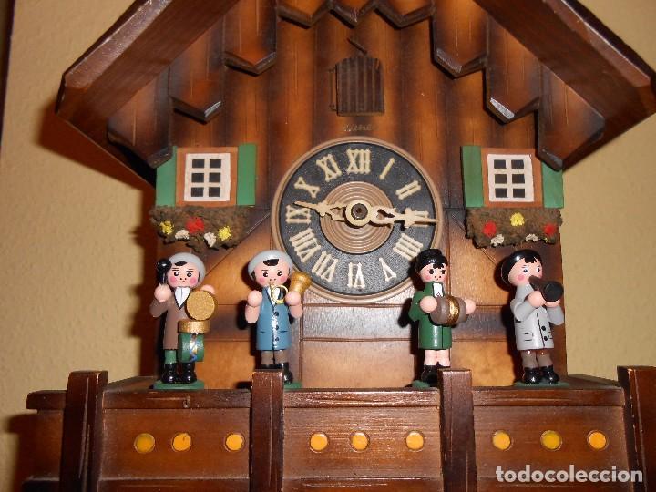Relojes de pared: RELOJ CUCU MUSICAL CON MÚSICOS AUTÓMATAS,MARCA KUNEC.MECÁNICO(MADE IN WEST GERMANY). - Foto 9 - 93086415