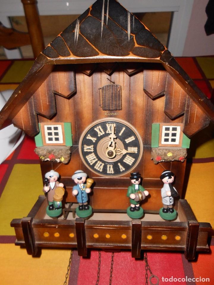 Relojes de pared: RELOJ CUCU MUSICAL CON MÚSICOS AUTÓMATAS,MARCA KUNEC.MECÁNICO(MADE IN WEST GERMANY). - Foto 10 - 93086415