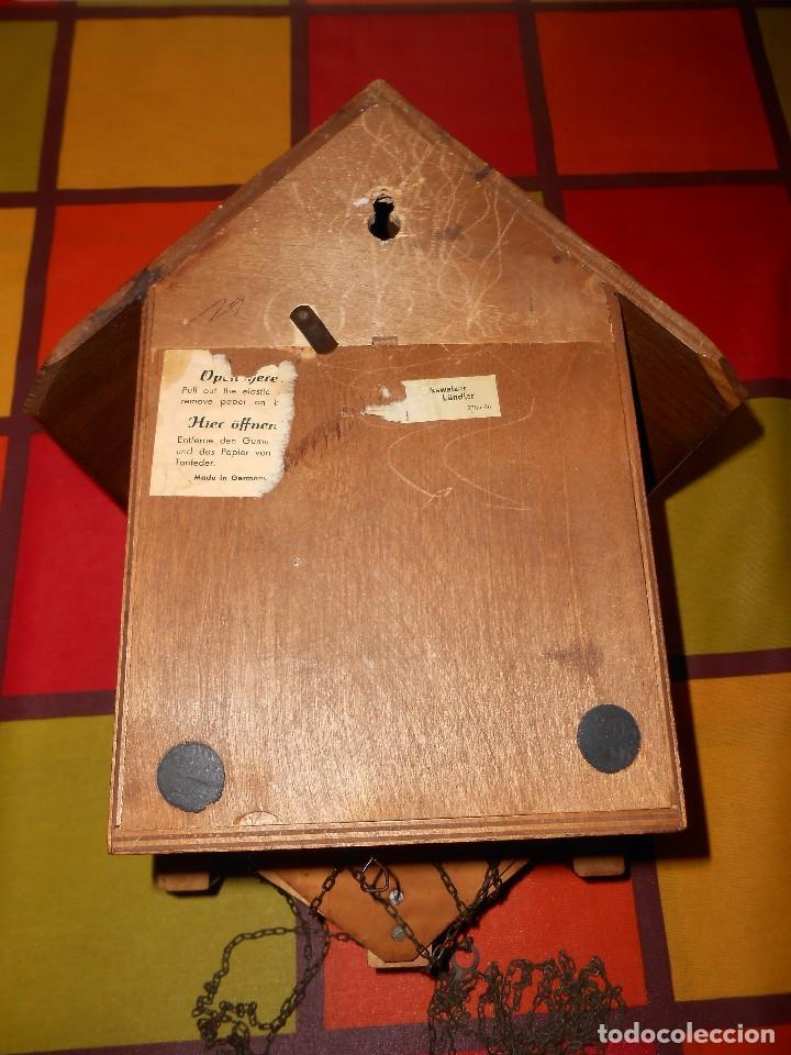 Relojes de pared: RELOJ CUCU MUSICAL CON MÚSICOS AUTÓMATAS,MARCA KUNEC.MECÁNICO(MADE IN WEST GERMANY). - Foto 12 - 93086415