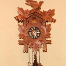 Relojes de pared: BONITO RELOJ CUCU-CUCO MECÁNICO DEL PRESTIGIOSO FABRICANTE HUBERT HERR TRIBERG(SELVA NEGRA ALEMANA).. Lote 177422252
