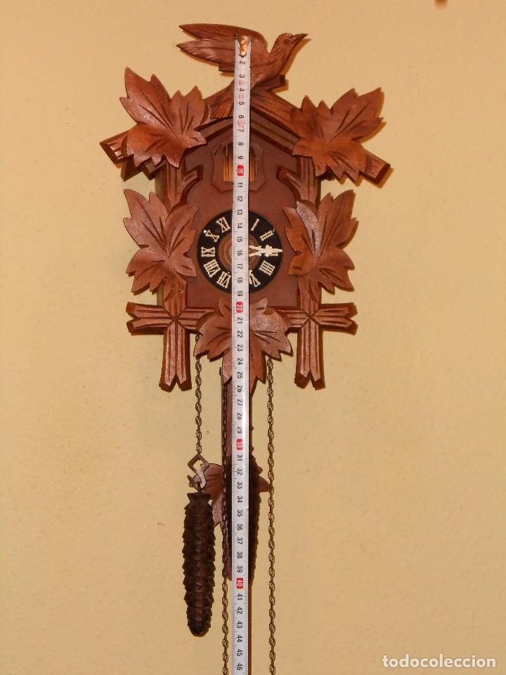 Relojes de pared: BONITO RELOJ CUCU-CUCO MECÁNICO DEL PRESTIGIOSO FABRICANTE HUBERT HERR TRIBERG(SELVA NEGRA ALEMANA). - Foto 10 - 177422252