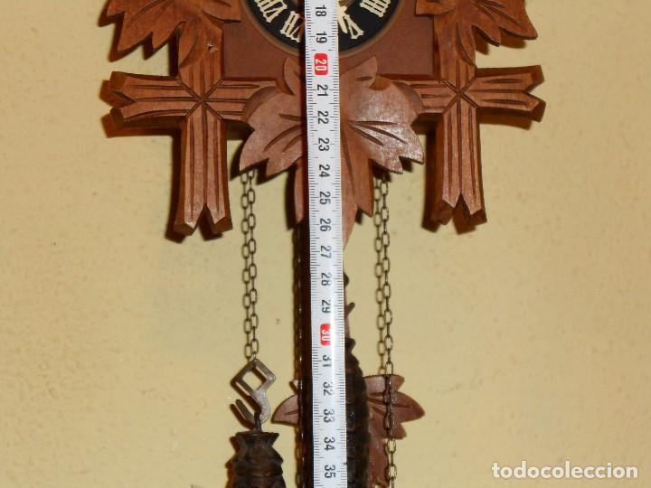 Relojes de pared: BONITO RELOJ CUCU-CUCO MECÁNICO DEL PRESTIGIOSO FABRICANTE HUBERT HERR TRIBERG(SELVA NEGRA ALEMANA). - Foto 11 - 177422252