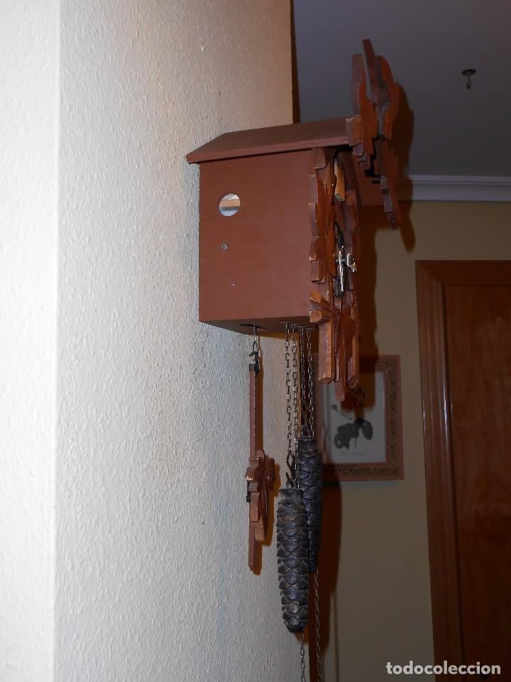 Relojes de pared: BONITO RELOJ CUCU-CUCO MECÁNICO DEL PRESTIGIOSO FABRICANTE HUBERT HERR TRIBERG(SELVA NEGRA ALEMANA). - Foto 12 - 177422252