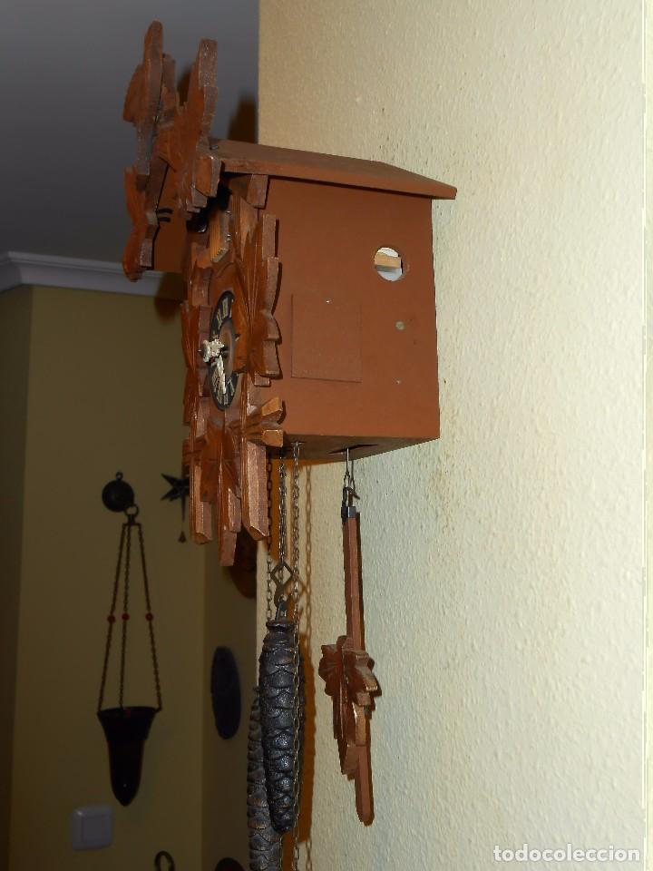 Relojes de pared: BONITO RELOJ CUCU-CUCO MECÁNICO DEL PRESTIGIOSO FABRICANTE HUBERT HERR TRIBERG(SELVA NEGRA ALEMANA). - Foto 13 - 177422252