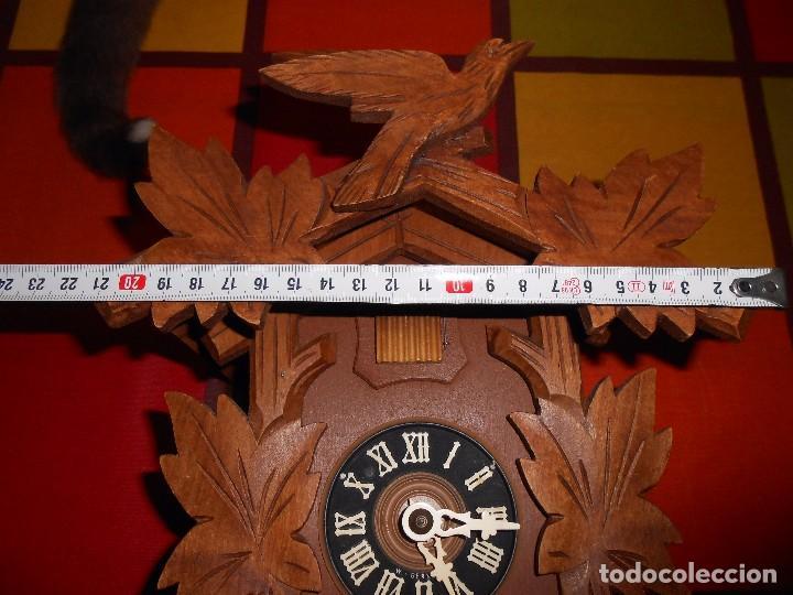 Relojes de pared: BONITO RELOJ CUCU-CUCO MECÁNICO DEL PRESTIGIOSO FABRICANTE HUBERT HERR TRIBERG(SELVA NEGRA ALEMANA). - Foto 14 - 177422252