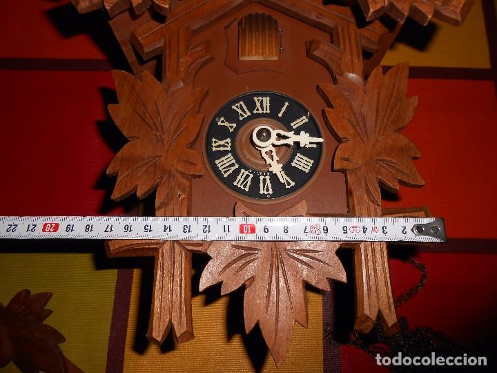 Relojes de pared: BONITO RELOJ CUCU-CUCO MECÁNICO DEL PRESTIGIOSO FABRICANTE HUBERT HERR TRIBERG(SELVA NEGRA ALEMANA). - Foto 15 - 177422252