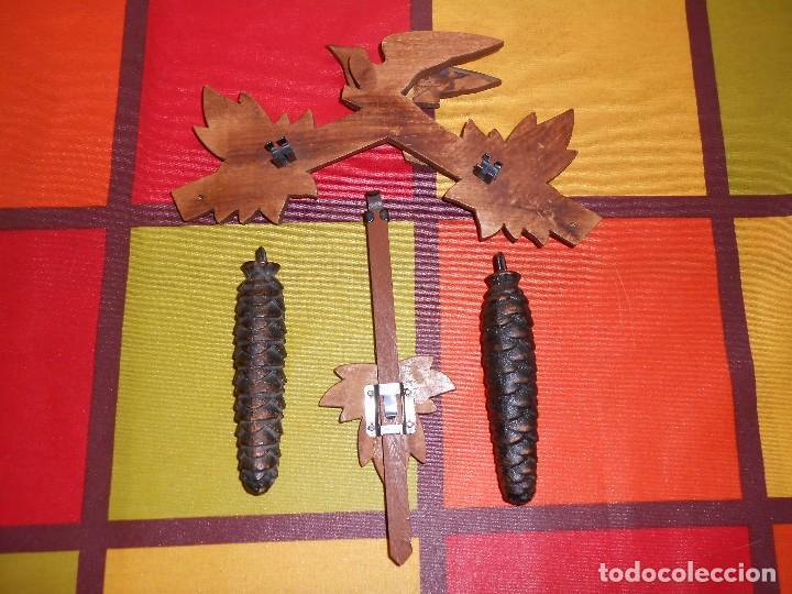 Relojes de pared: BONITO RELOJ CUCU-CUCO MECÁNICO DEL PRESTIGIOSO FABRICANTE HUBERT HERR TRIBERG(SELVA NEGRA ALEMANA). - Foto 6 - 177422252